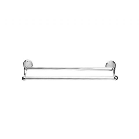 Croydex Chrome Double Towel Rail 45cm